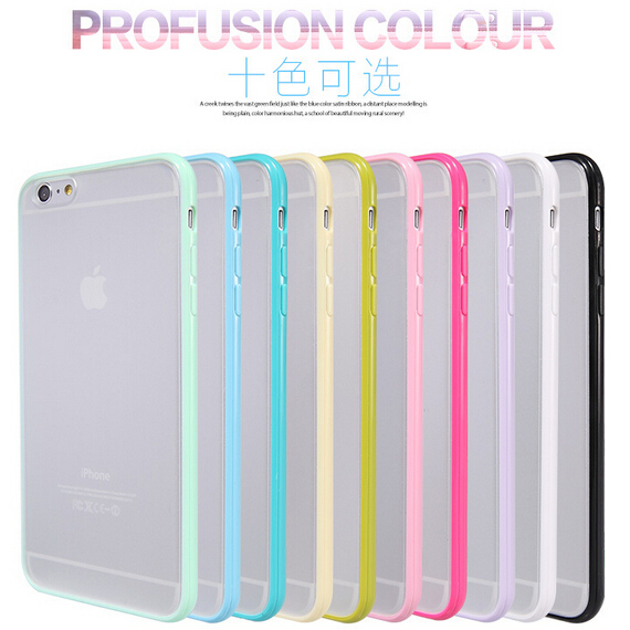 Slim Thin Colorful Hard PC Back Transparent Clear Matte Case Apple iPhone 5C Candy Soft Frame Cover 5c - Shenzhen RCD Technology Co., Ltd. store