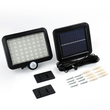 Buy 56 LED Solar Light Outdoor LED Solar Powered Garden Lights Body Motion Sensor Floodlights Spotlights Security Street Wall Lamp for $18.46 in AliExpress store