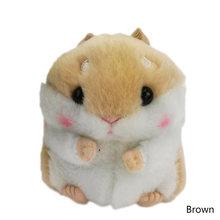 Hamster Mini Chaveiros Chaveiros Faux Rabbit Fur Pompom Fofo Bugigangas Carro Bolsa Pingente Chian Chave Anel Titular(China)