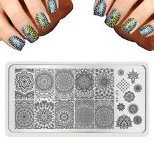 2016 lot Fashion Nail Art Templates Round Lace Nail Art Stamp Image Plate Rctangular Stamping PLates DLY Nail Tools wholesale(China (Mainland))