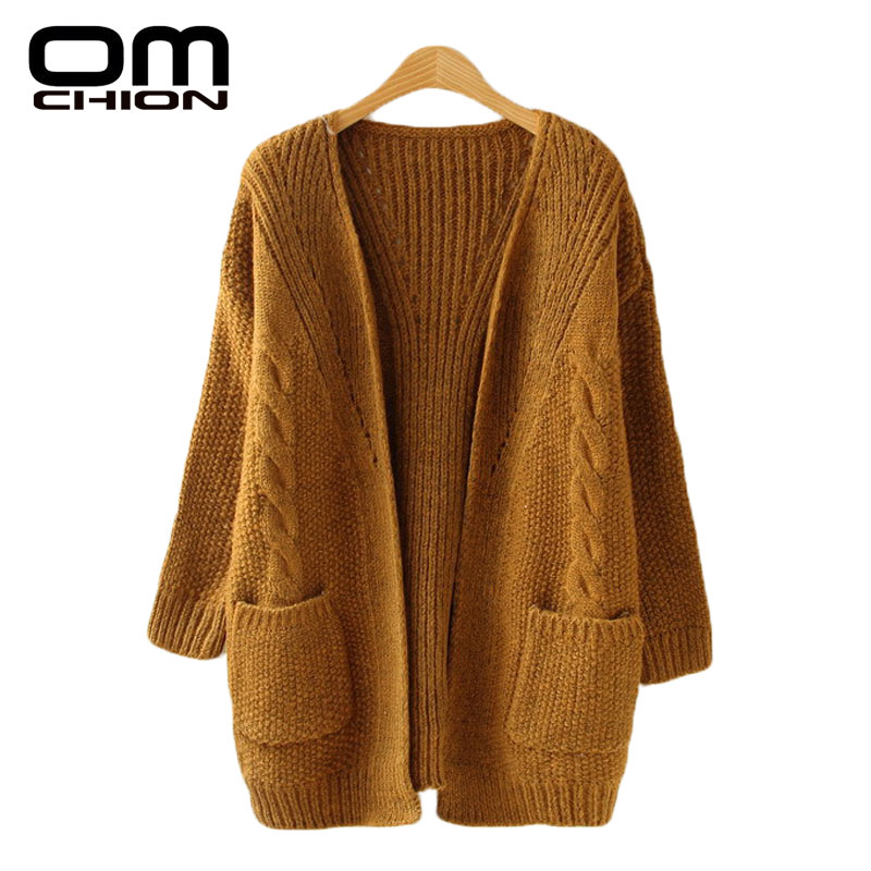 OMCHION Autumn Knitted Sweater Women Winter Knitwear Cardigan Feminino Casual Cashmere Thick Cardigans femme manche longue WKS22(China (Mainland))