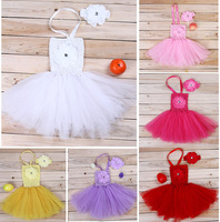 Newborn Bebe Baby Girls Clothing Set Clothes Tutu Dress +Wrapped Chest Tube Sweater+Headband Christening Shower Photography Prop
