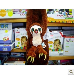 Y942 free shipping 55cm=21.6inch Belt the sloth The Croods monkey plush stuffed toy doll for kids gift<br><br>Aliexpress