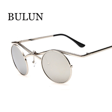BULUN New Fashion Gothic Steampunk Sunglasses Retro Round Sun glasses Women Men Brand Designer Oculos De Sol Feminino De Solei