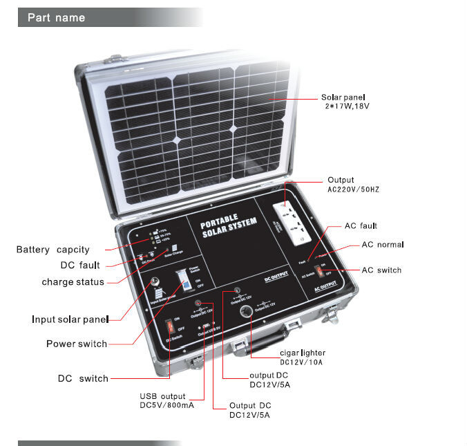 photovoltaic generator/portable solar power generator/ mini portable solar generator 220v discount ship cost+100%reputation(China (Mainland))