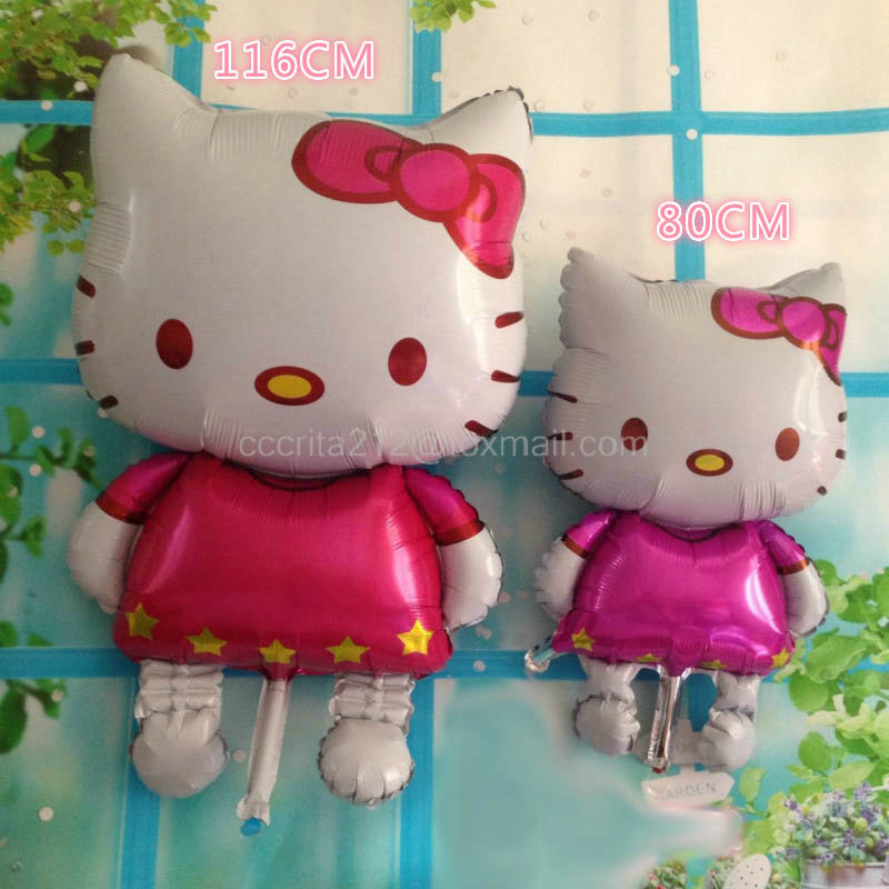 one pc116*65cm Large size cute Hello kitty cat foil Balloon for birthday anniversay party decoration helium globos for kids gift(China (Mainland))