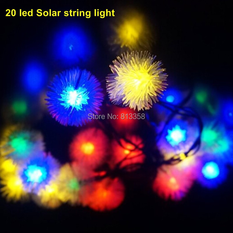 1SET 20 LED Solar String Fairy Lights Solar Powered