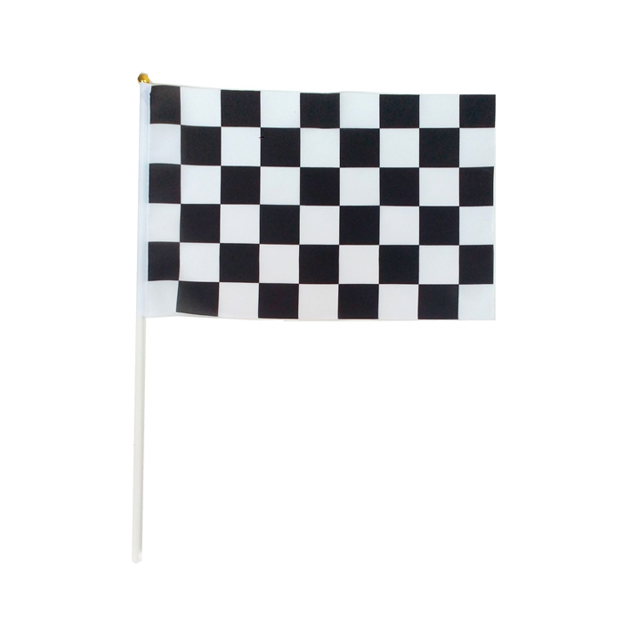 12 pieces lot 30 45cm 11 81 17 72in Checkered flags with Plastic Flagpoles black