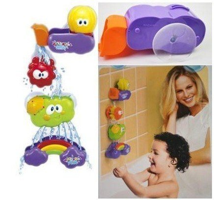 new baby bath toy waterfall rainbow set water poured. Black Bedroom Furniture Sets. Home Design Ideas