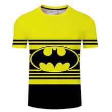 Nueva moda Superman Batman Hulk Star Wars 3D T Shirt estilo de verano para hombres de manga corta Camiseta Casual superhéroe camisetas camiseta 6xl(China)