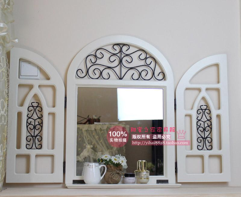 European-style palace retro white wood false window shelf Shelf Mirror Mirror child wooden pergolas Specials<br><br>Aliexpress