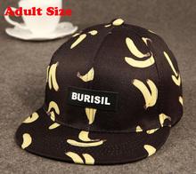 Cool 2016 New Fruit pattern Adult & Kids Fashion Caps Children Baseball Caps For Boys Girls Sun Hip Hop Snapback Caps Summer Hat(China (Mainland))