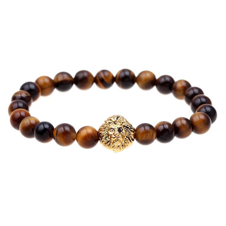 Bead bracelet buddha bracelet pulseiras masculinas natural stone lion bracelet men pulseras hombre bracciali uomo mens