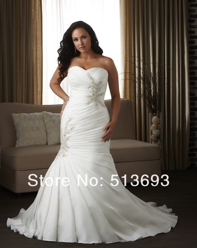 Party 2015 plus size wedding dresses vestidos de novia for Plus size beaded wedding dresses