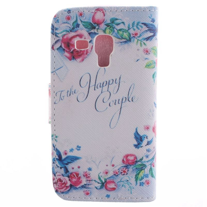 Beautiful Leather Wallet Case for Samsung Galaxy S Duos s7562 Galaxy S Duos 2 S7582/Trend Plus S7580(China (Mainland))