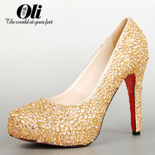 Gold red bottom heels online shopping-the world largest gold red ...