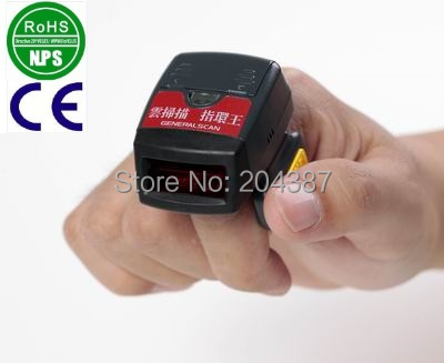 Generalscan 1D Laser Mini Bluetooth Ring Barcode Reader Tiny Ring Barcode Scanner GS R1000BT(China (Mainland))