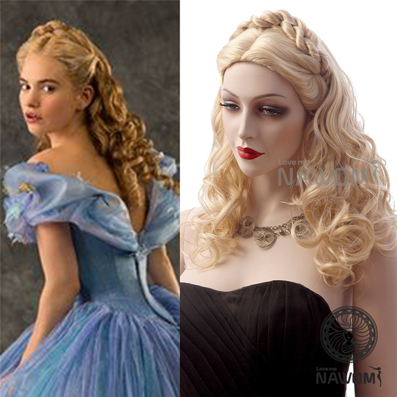 2015 New Style vintage elegant women movie star hairstyle blonde long wavy synthetic hair wig - Nawomi Wigs store