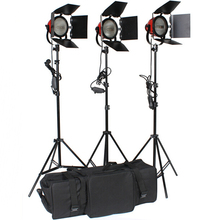 3pcs 800W Studio Video Red head Light kit + Spare Bulb+Carry bag(China (Mainland))