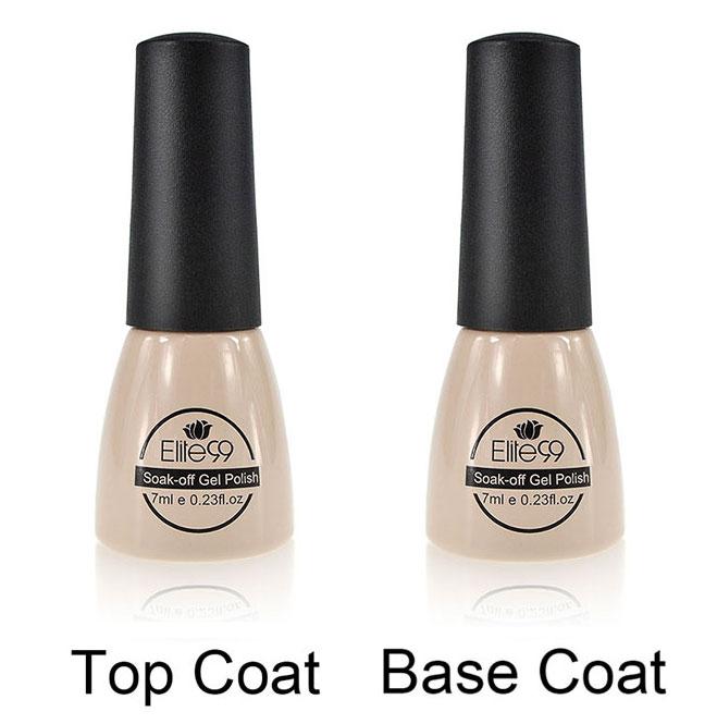 Elite99 Soak Off Gel Polish UV Nail Gel Polish Top Coating Base Lacquers or Pick 2 Nail Polish Color Manicure Gel Varnishes(China (Mainland))