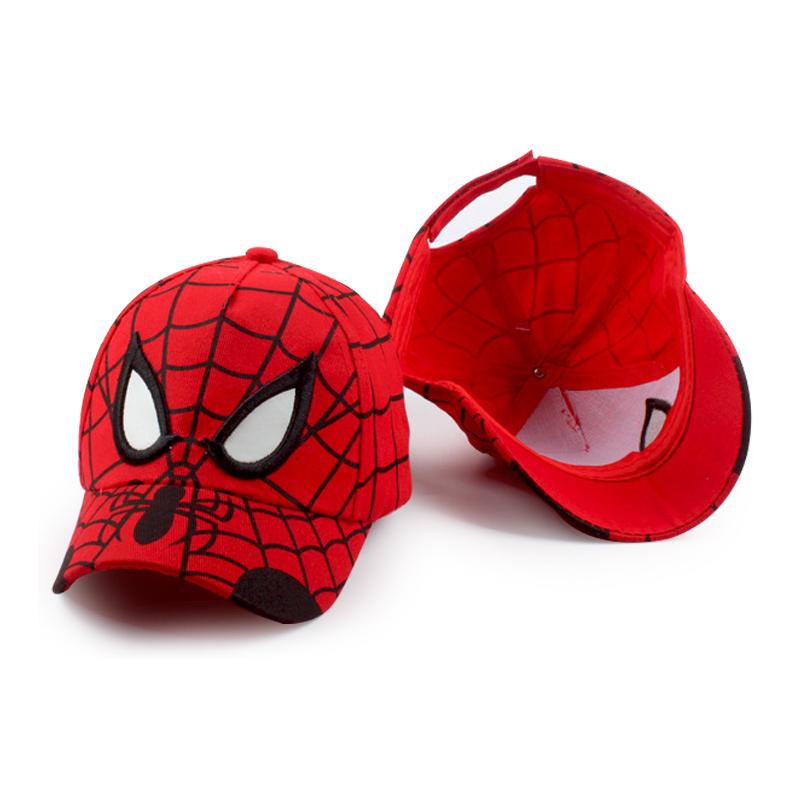 New Fashion Children Cartoon Spiderman Baseball Caps Snapback Adjustable Children's Sports Hats Cute Batman Hat Fit For 48-52cm(China (Mainland))