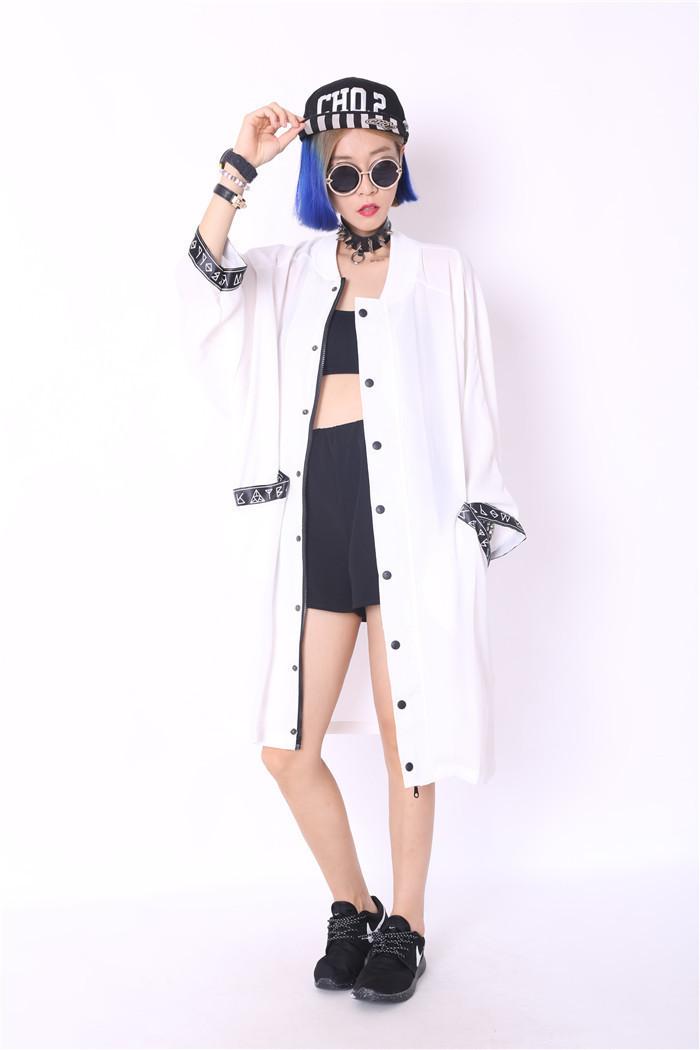 Melinda Style 2015 new summer fashion women blouse long chiffon shirt zipper fashion summer outwear free shipping(China (Mainland))