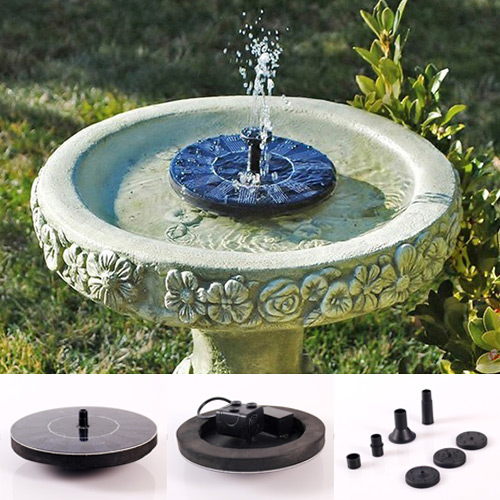 New Solar Water Floating Pump Fountain Garden Pool Watering Solar Pump Kit Set In Watering Kits