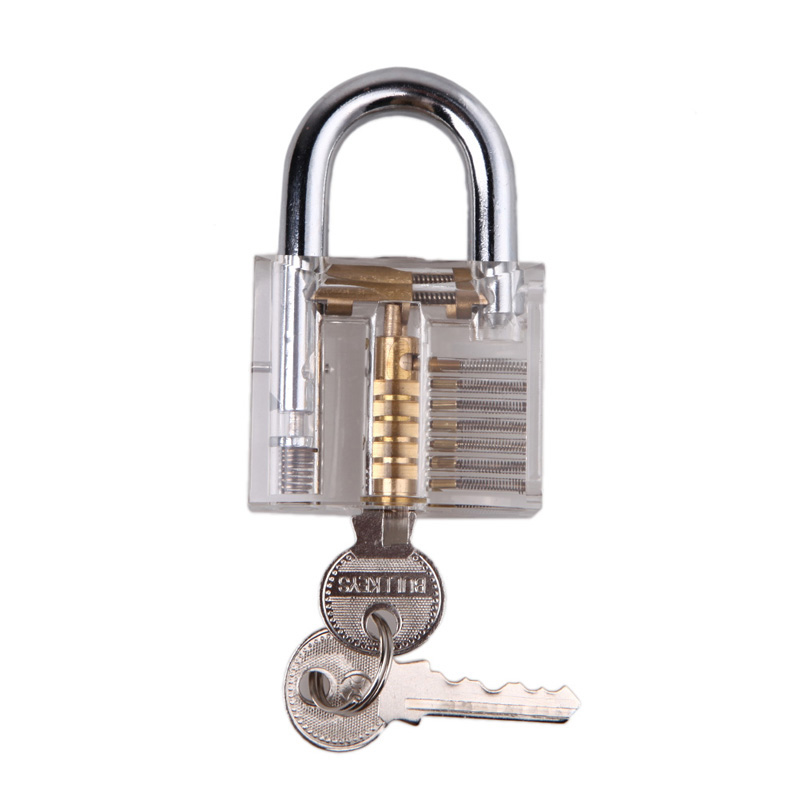 High Quality Pick Lock Cutaway Inside View Practice Lock Padlock Locksmith For Locksmith Practice Training Skills Free Shipping(China (Mainland))