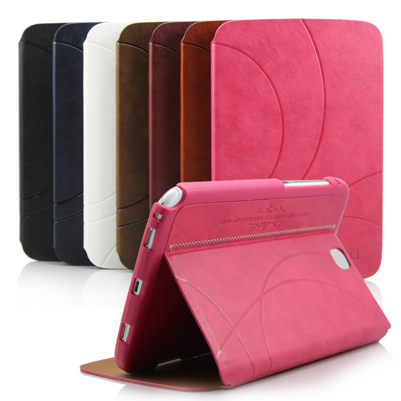 Luxury Stand Leather Folio Smart Case Cover for Samsung Galaxy Note 8.0 N5100 N5110 Flip Book Cover for Samsung N5100(China (Mainland))