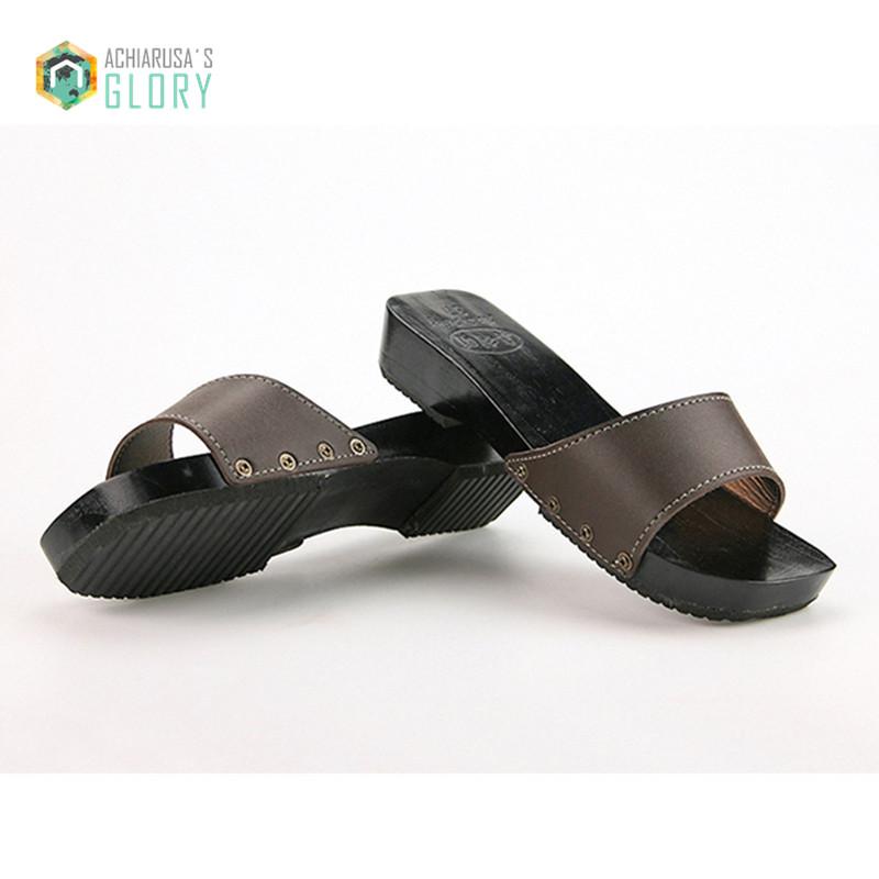 2016 Summer men women Sandals Japanese Clogs Geta Wooden Slippers Cosplay Women Bench Geta Flat Heel WMGE-875(China (Mainland))