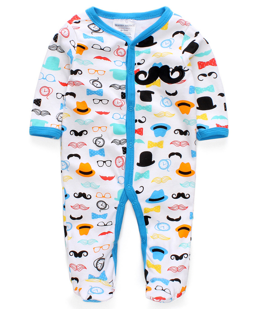 New 2015 cute baby rompers jumpsuit comfortable clothing for new born babies 0-9 m baby wear , newborn baby clothing(China (Mainland))