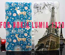 2014 New Hot High Quality PC Painted Fashion Cute Cartoon UV Print Hard Shell Housing Cover Case For Nokia Lumia 1320 Cases