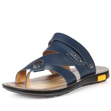 The new dual purpose summer sandals men leather sandals Korean men s sandals slip microfiber leather
