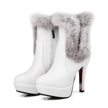 2017 tamaño Grande 30-48 Botas de Nieve Botas Mujer Botines de Moda marca Baja Talones Atractivos Otoño Invierno Para Mujer Zapatos de Nieve 5203-7(China (Mainland))