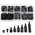 AliExpress Product-ID 32454845316: M3 Nylon Black Hex M-F Spacers/ Screws/ Nuts Assorted Kit, Standoff Free Shipping-Y103