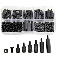 M3 Nylon Schwarz Hex MF Abstandshalter/Schrauben/Muttern Assorted Kit, Standoff Freies shipping-Y103(China (Mainland))