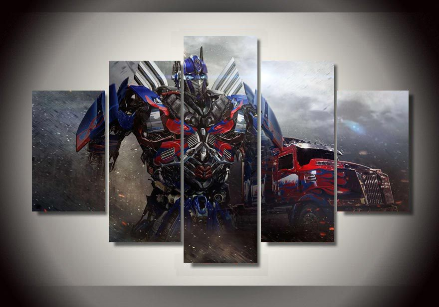 Painting Optimus Prime Transformers Wall Artwork Children Room Decor  Transformers  Bedroom Decor Transformers Wall Decals. Transformers Bedroom Accessories
