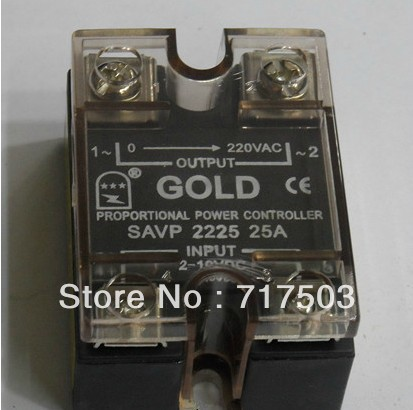 Free shipping AC voltage relay SAVP2225 25A  Voltage regulation module  2-10v or 4-20ma SSR