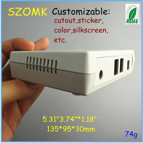 10 pieces a lot Electrical plastic junction box case network shell for wifi router modems135*95*30 mm 5.31*3.74*1.18 inch(China (Mainland))
