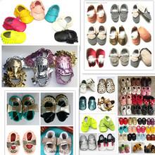 Nuevo cuero genuino de la vaca mocasines blandos Moccs bebé arco de las muchachas zapatos bebé recién nacido primer caminante antideslizante zapatos infantiles calzado(China (Mainland))