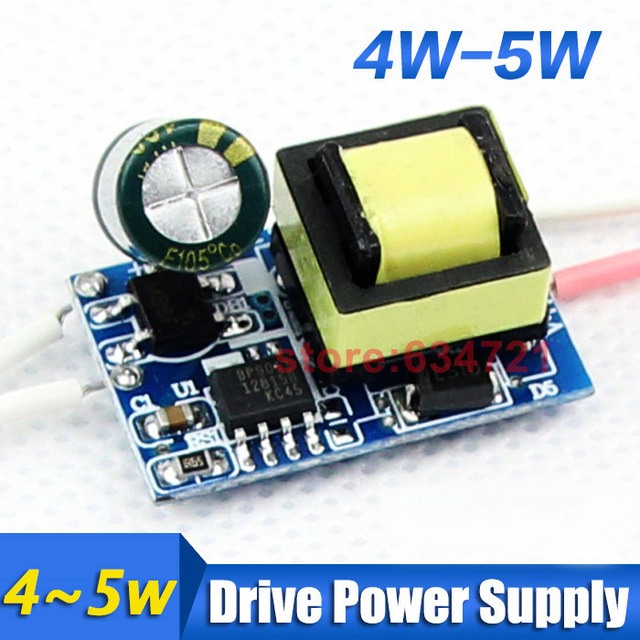 E27/E14/GU5.3/GU10 LED Driver 4-5 * 1W LED Constant Current Drive Power Built-in LED Bulb for Power Supply Drive