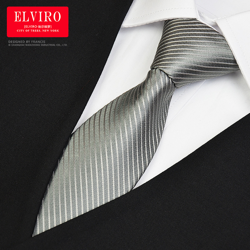 New Free Shipping men's man Easy to pull into the dark stripe Zip Tie male dress business occupation tooling convenient necktie(China (Mainland))