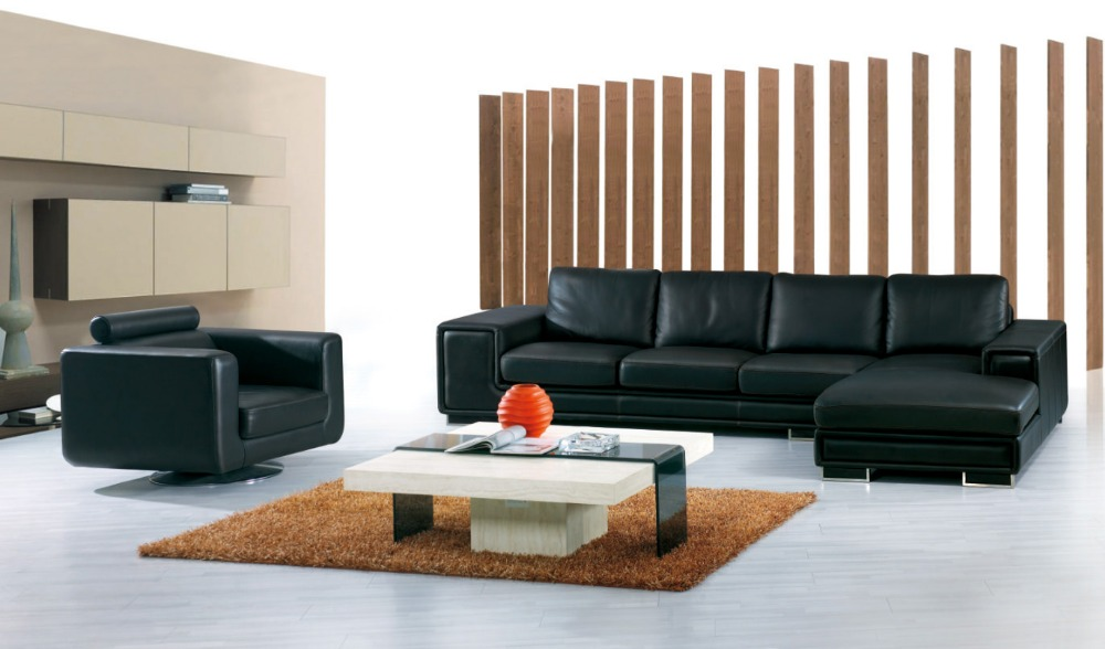 cow genuine/real leather sofa set living room sofa sectional/corner sofa set home furniture couch/L shape big size+ swivel chair(China (Mainland))
