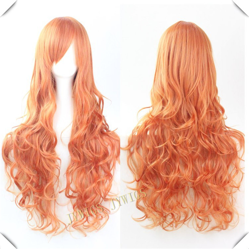 80CM Synthetic Long Curly Cosplay Wigs Ladies Wavy Wigs <br><br>Aliexpress