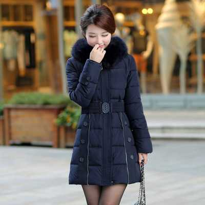 Фотография 5XL Plus Size Winter Down Coat Women 2016 Fashion Ladies Fur Collar Slim Waist Long Parkas Winter Jacket Women Overcoat H6317