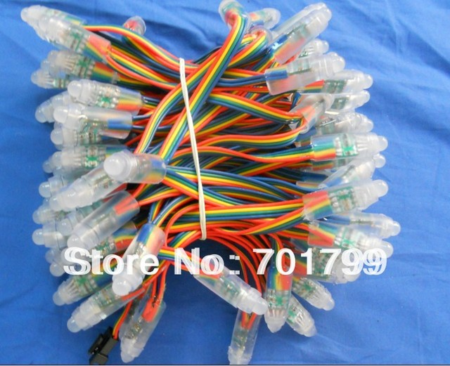 IP68 DC12V input 12mm through-hole LED RGB dump node;100pcs a string