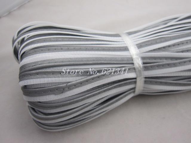 10 мм х 10 м серебро светоотражающий материал отражающая трубопроводы ткань газа кромки кос отделка пришить RT072