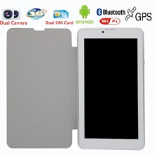 New Design 7 Inch Leather holeter 3G Phone Call Android Tablets Pc WiFi BT Bluetooth pc tablet Dual Camera 2 SIM Card Tab Pc 8(China (Mainland))