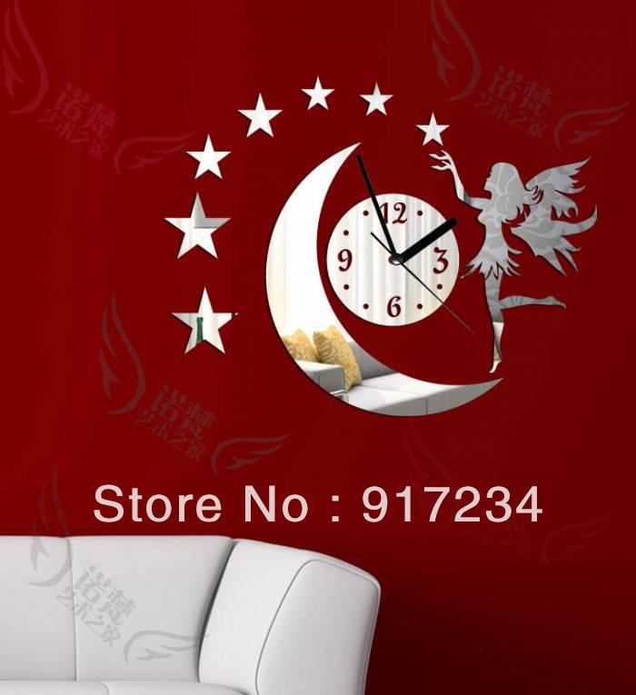 MonGirl diy derlook fashion wall stickers decoration mirror clock - Yiwu International Trade Co., LTD store
