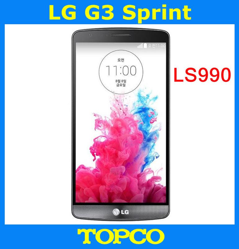 "LG G3 Sprint LS990 Original Unlocked GSM 3G&4G Android Quad-core RAM 3GB 5.5"" 13MP 32GB WIFI GPS Cell Phone(China (Mainland))"